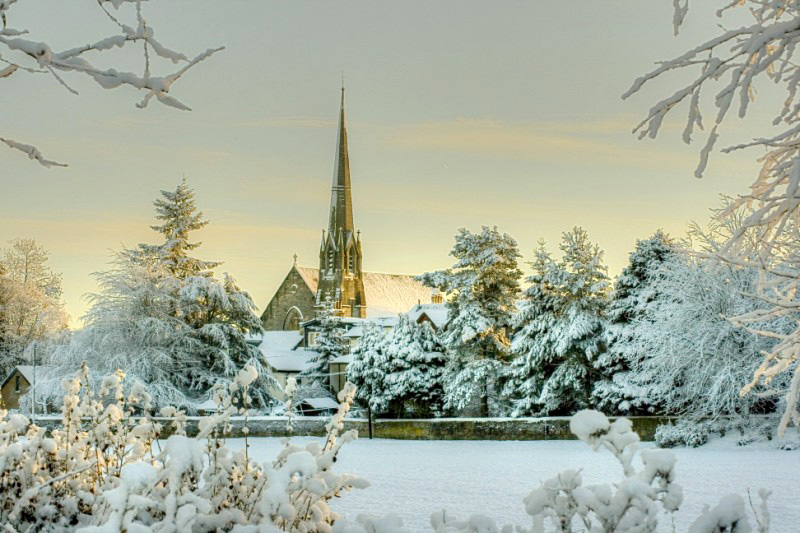 John Hastie Park Strathaven on Wintry Day by David Smith