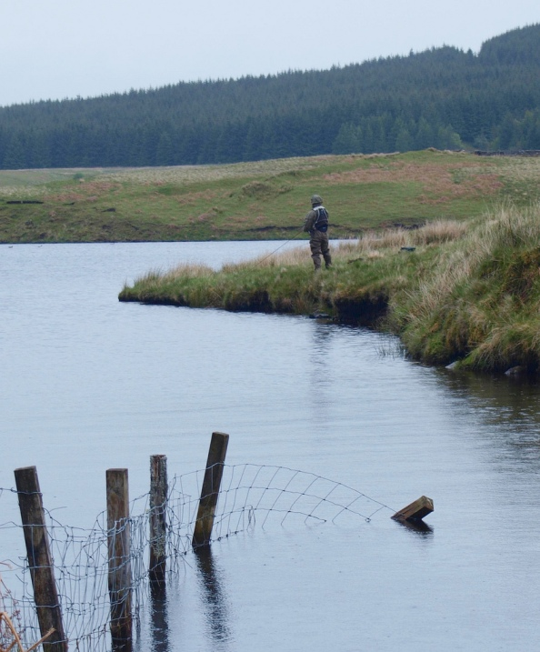 Angler Fishing Spoutloch Burn Bay by James Muldoon