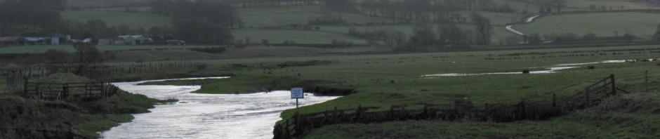 Flooded Upper Avon @ Gilmourton nr Stathaven 210112