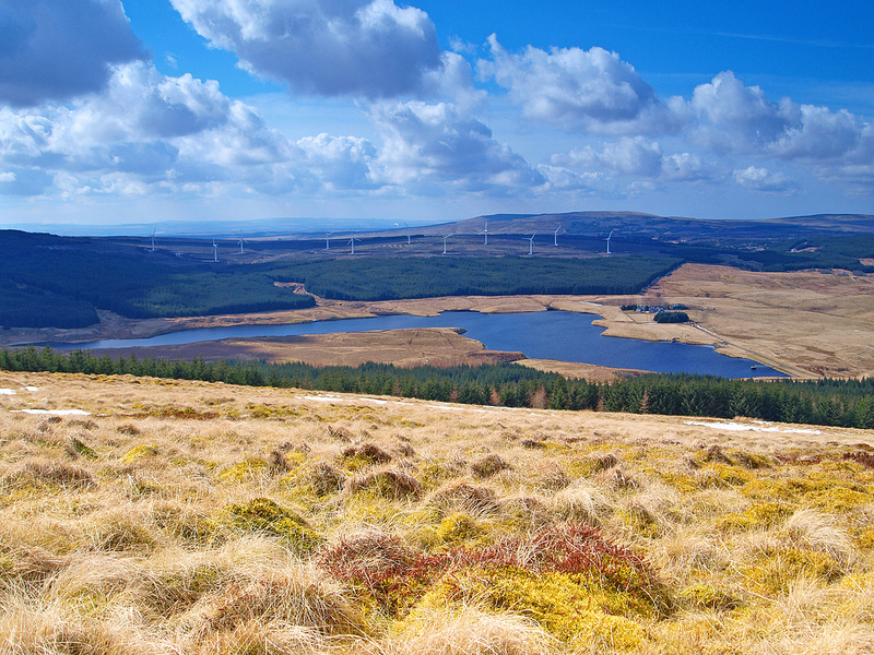 The Reservoir from the top of Dungavel Hill by James Muldoon