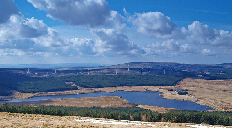 A view from the top of Dungavel Hill by James Muldoon
