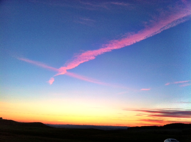 A beautiful Glengavel sunset from Thursday 060613