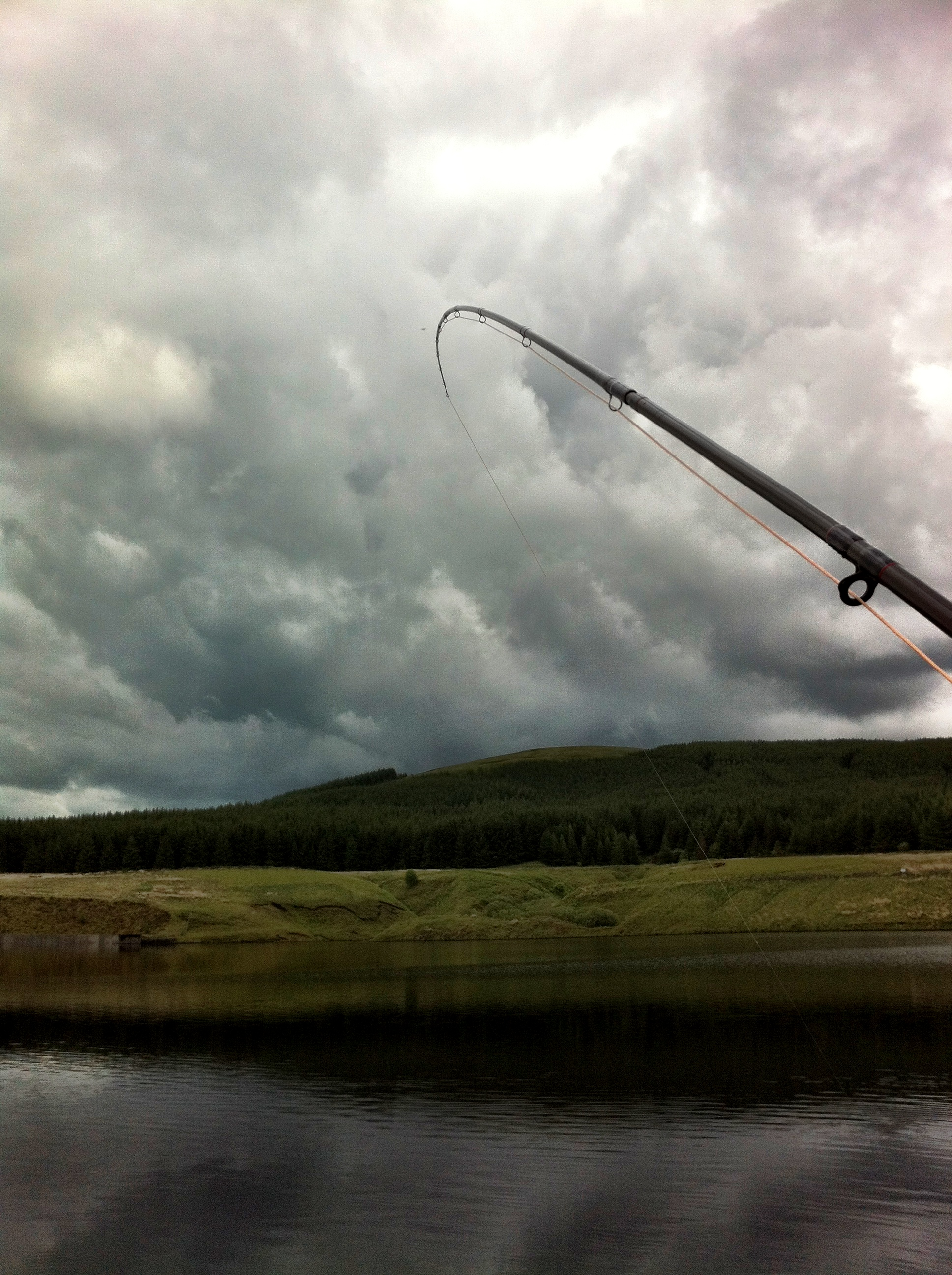 Fish on in a flat calm @ Glengavel.